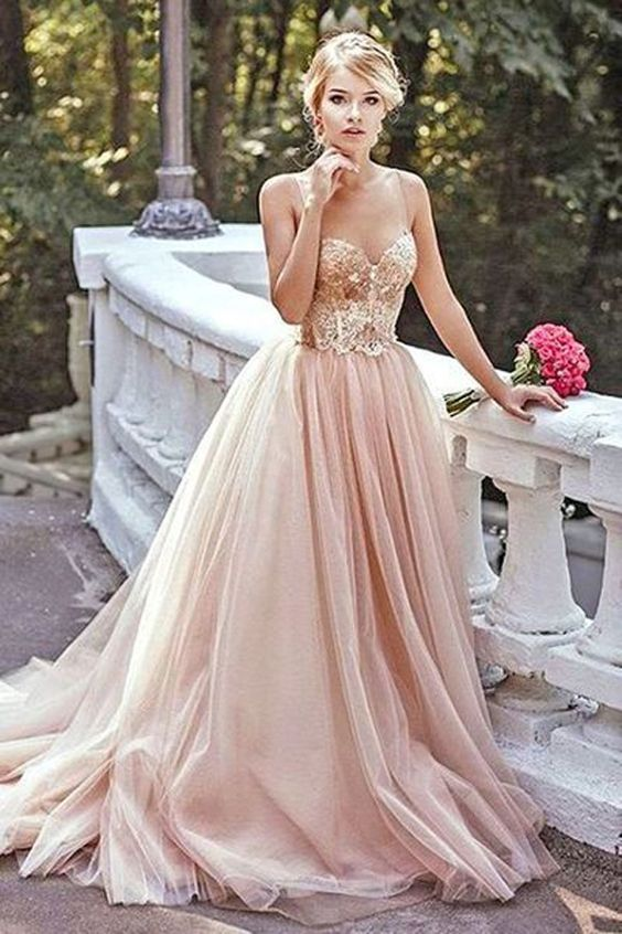 pink gold dress gold bodice