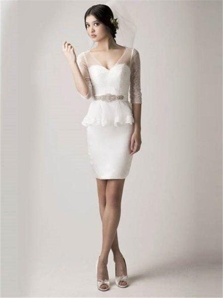 two peplum dress semi clean too = ay