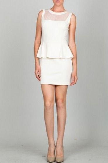 white dress chiffon collar