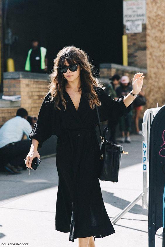 silk wrap dress black