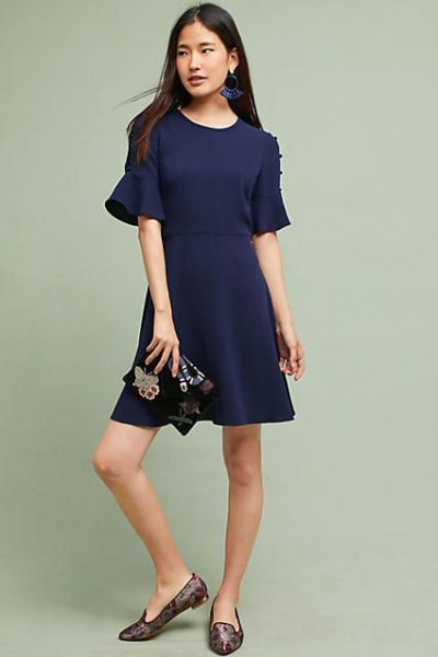 navy mantle mini dress pink loafers