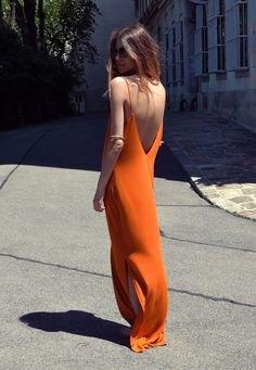 red high split breezy maxi dress