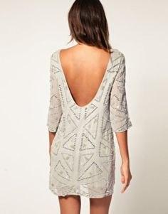 white half-heated printed shift dress
