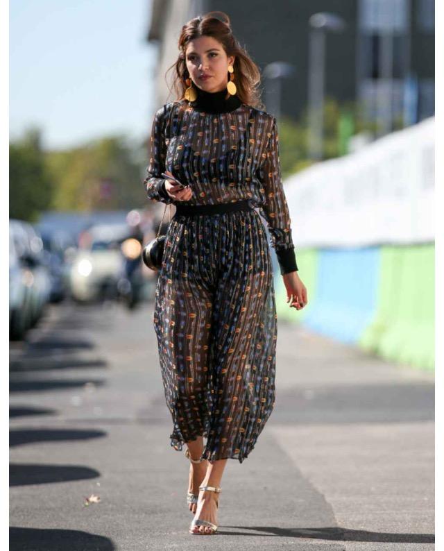 black mesh dress long