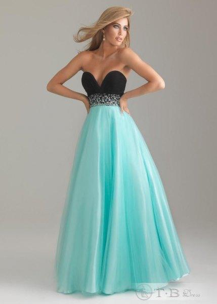 strapless sweetheart neckline empire midi flare dress