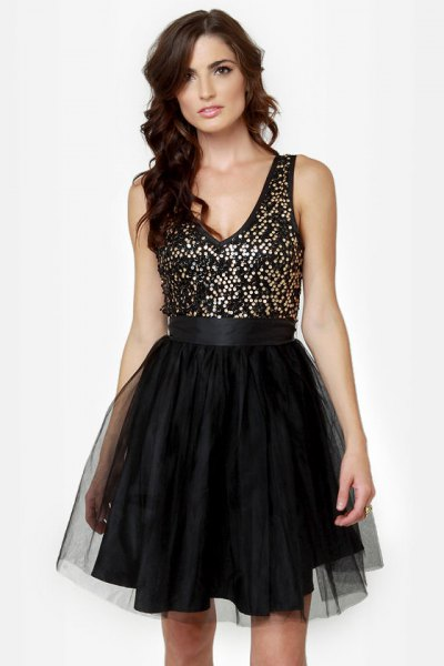 black and silver sequin dress with sequin