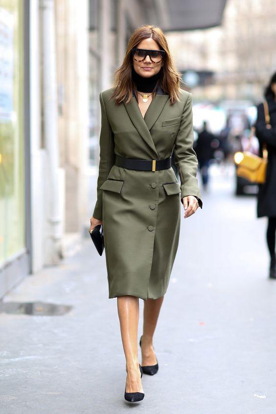 olive dress blazer