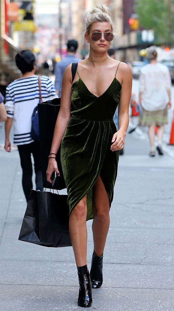 olive dress velvet