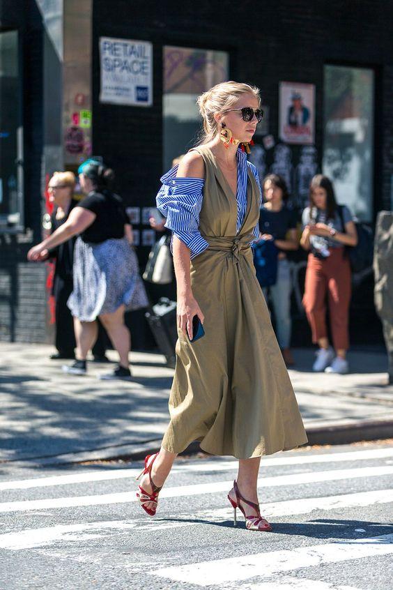 olive dress cold shoulders