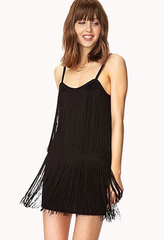 Black spaghetti strap shift French dress