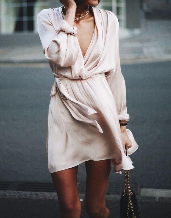 blush pink dress floating silk