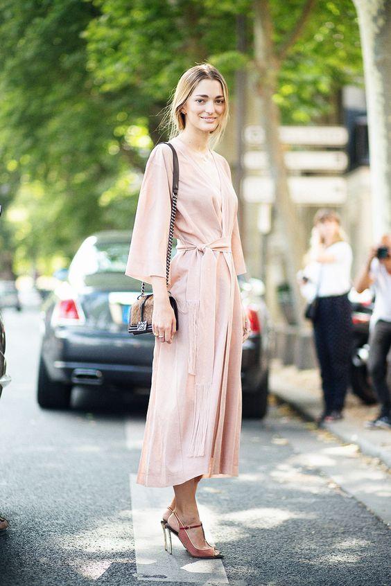 pink pink dress long