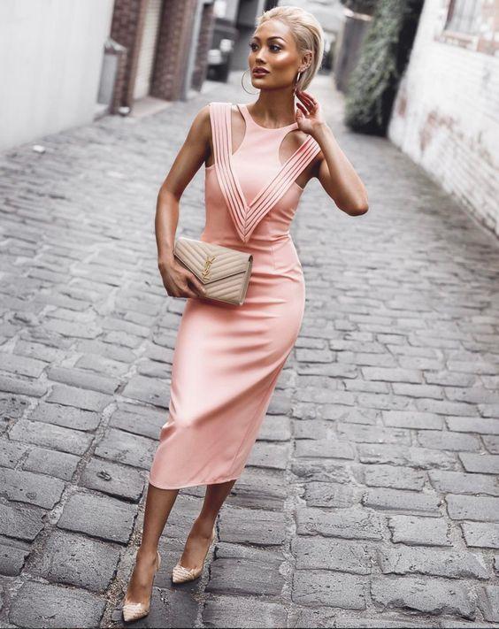 pink bandage dress tank bodice