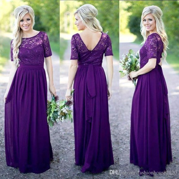 Tie waist maxi dress lace upper part