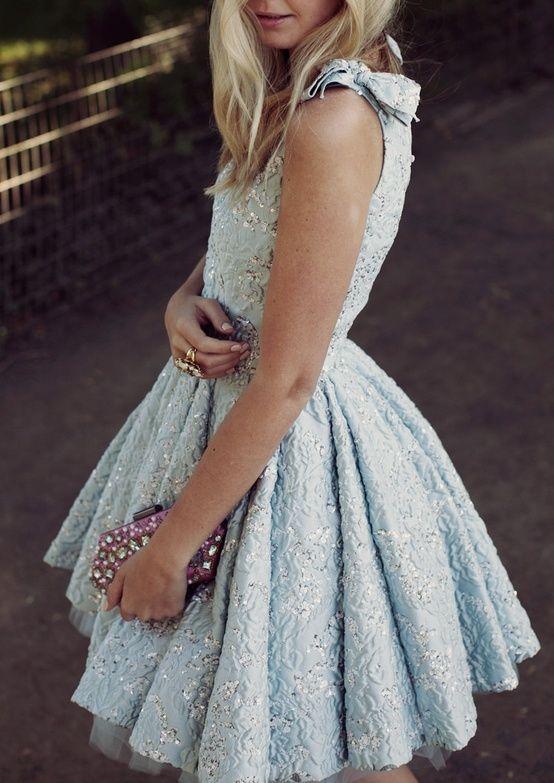 blue sparkly dress retro