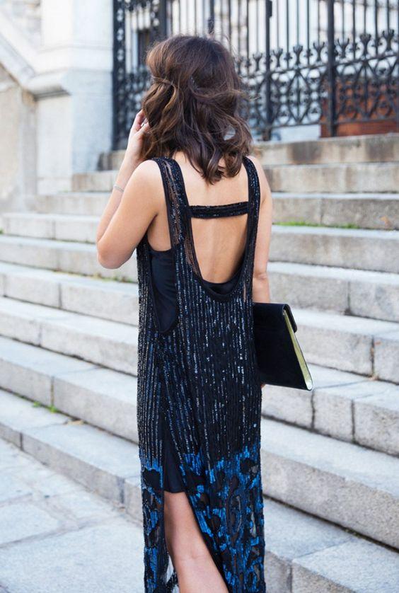 blue glitter dress glam