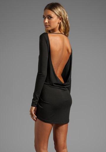 backless mini dress floating back design