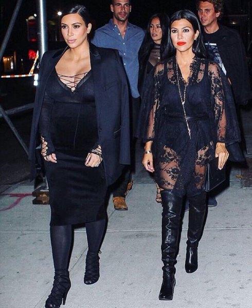 black deep v-neck strap dress blazer