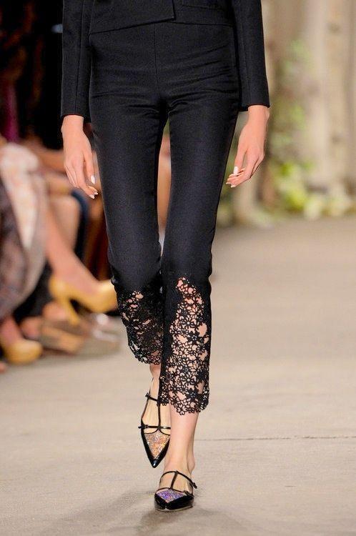black lace pants rub