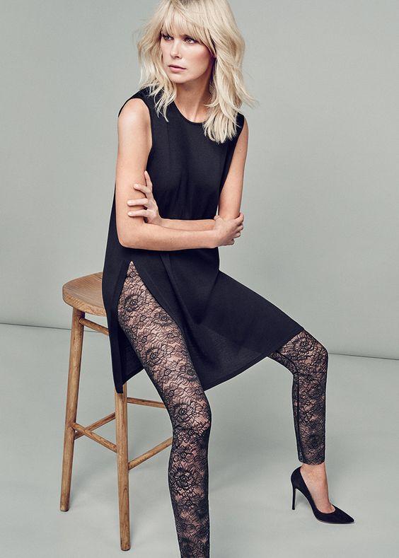 black lace pant layer