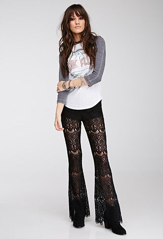 black lace pants sporty