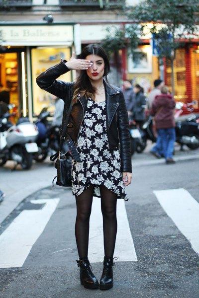 black floral dress dress jacket