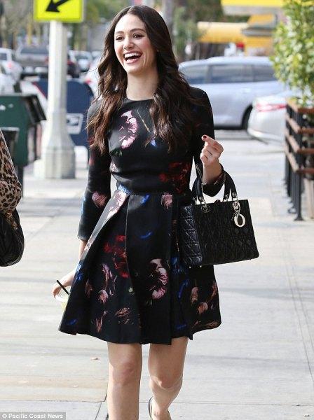 black floral floral dress outfit