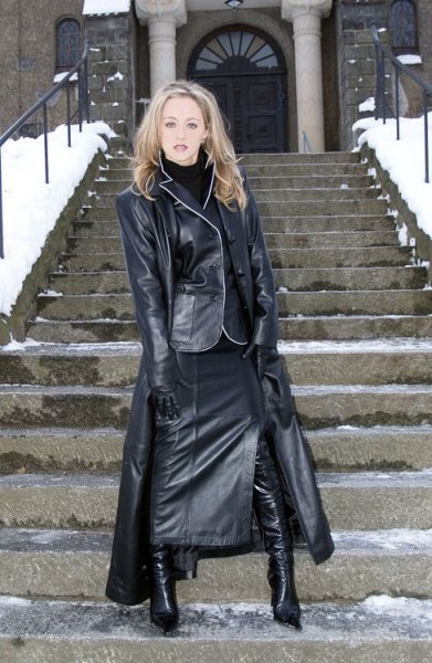maxi leather skirt all leather outfit