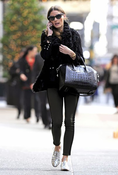 black knitted chunky sweaters of leather
