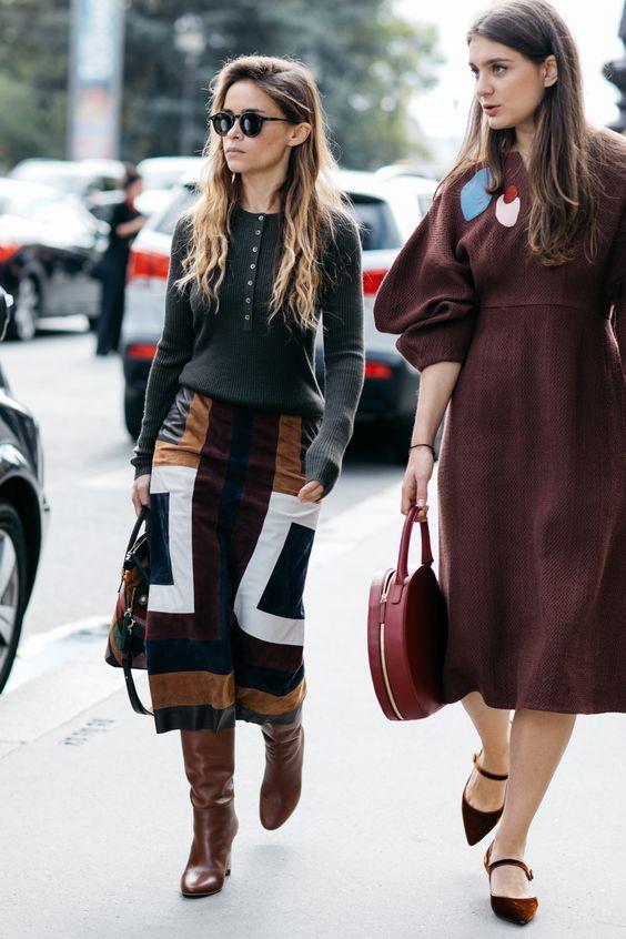 suede skirt patchwork midi