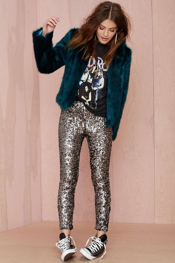 sequin leggings converse