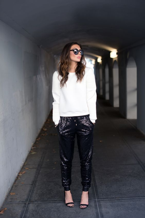sequin leggings sporty