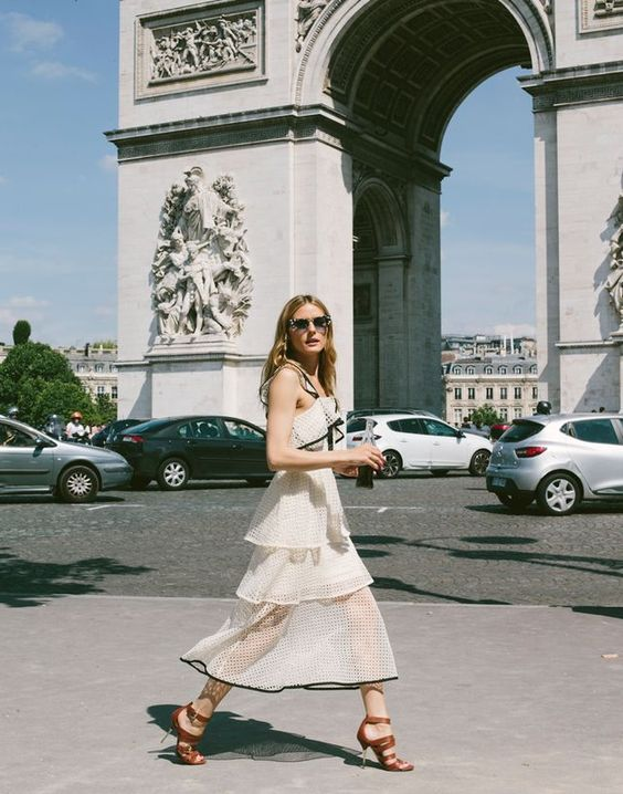 white chiffon dresses ruffled
