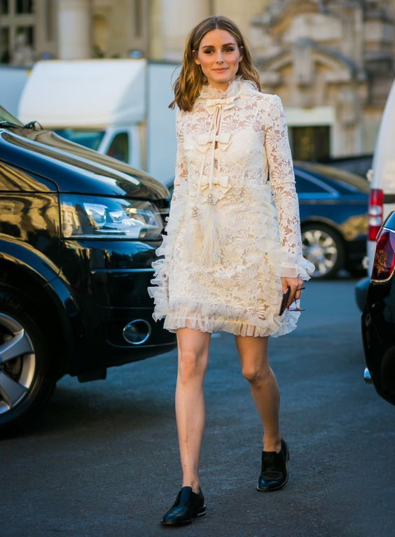 lace of white chiffon dress