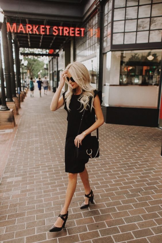 black ruffle dress basic staples