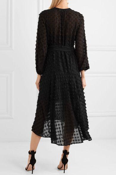 black chiffon dress confetti