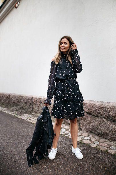 black chiffon dress breezy