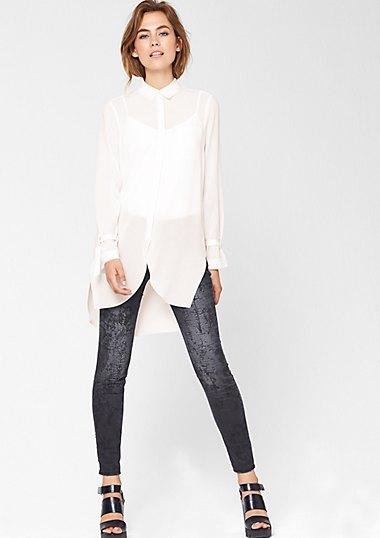 long white chiffon blouses velvet leggings