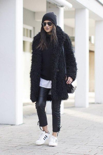 black teddy jacket all black clothes