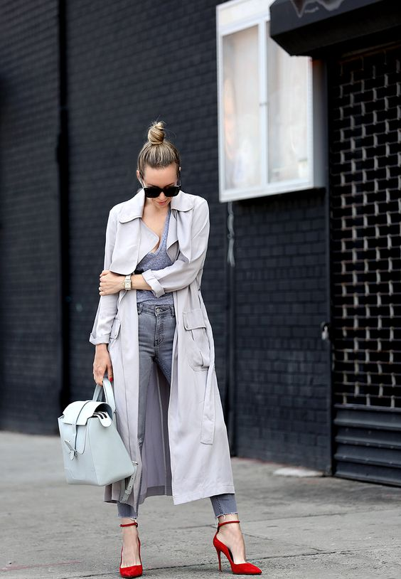 duster jacket all gray