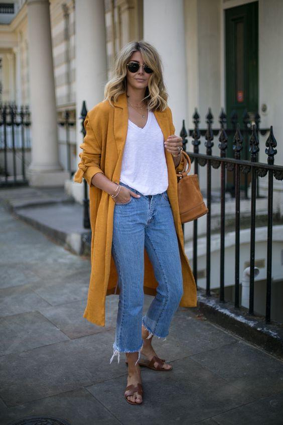 duster jacket yellow