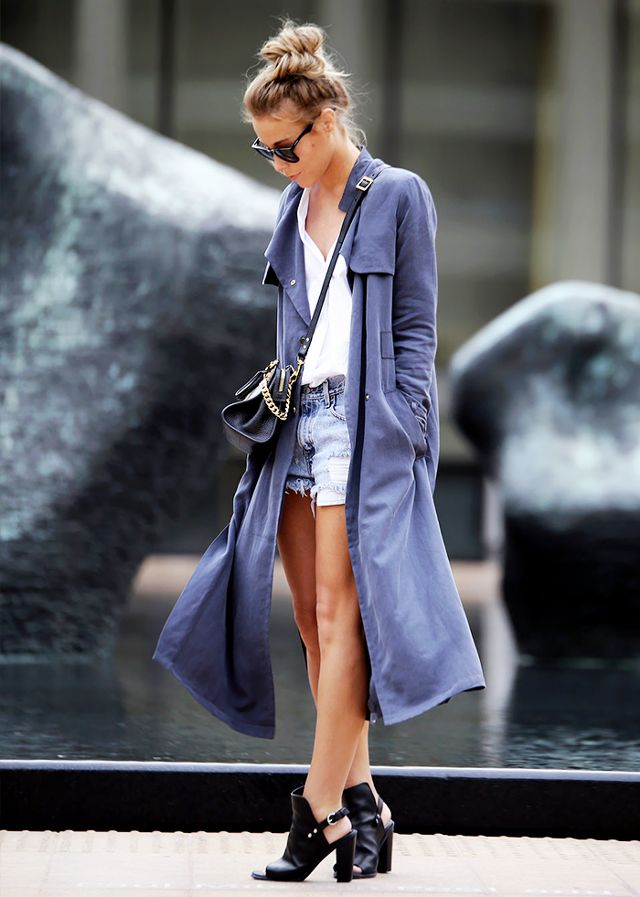 duster jacket blue