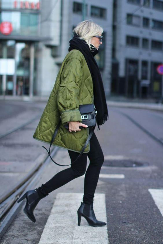 long bomber jacket high heeled