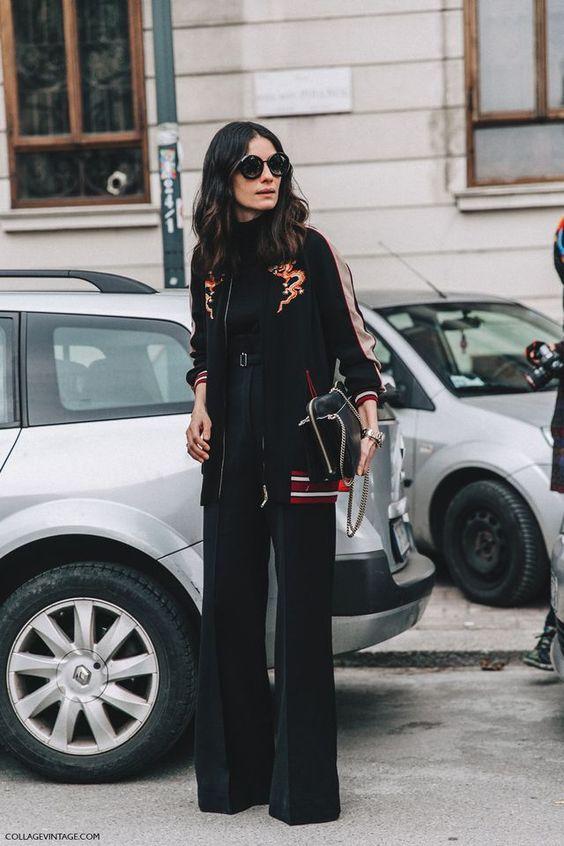 long bomber jacket elegance