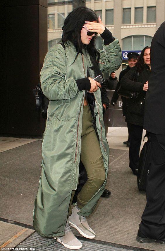 long bomber jacket super long