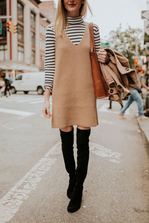 knitted sweater dress pinafore