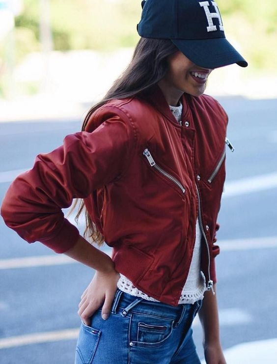 short jacket red sporty