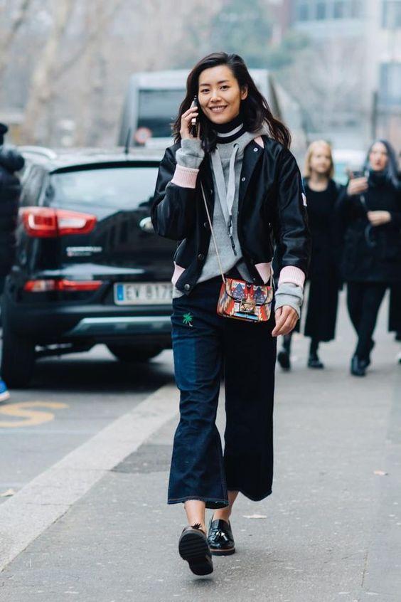 short jacket dark jeans
