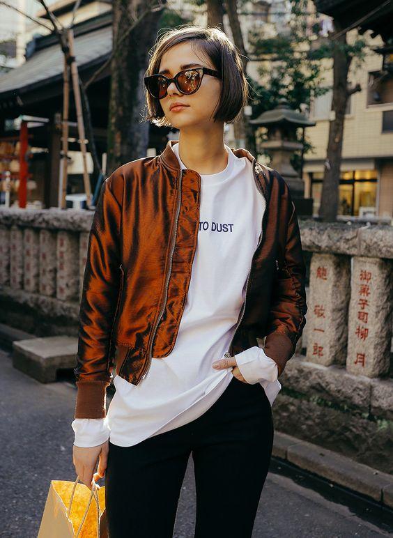 short jacket bronze