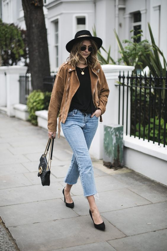 suede heels frayed home jeans